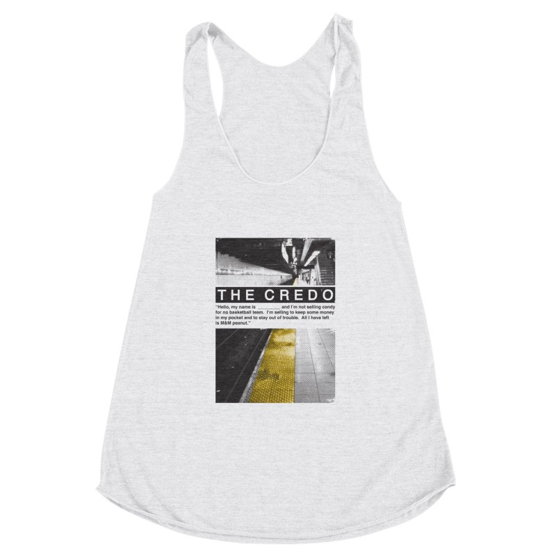 The Credo Women's Racerback Triblend Tank by danielstevens's Artist Shop