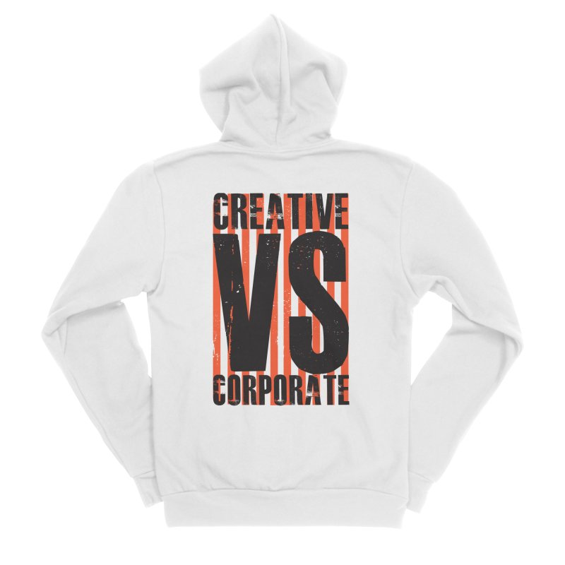 Creative Vs Corporate Men's Sponge Fleece Zip-Up Hoody by Daniel Stevens's Artist Shop