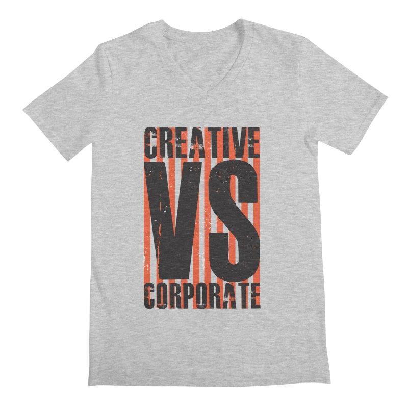 Creative Vs Corporate Men's V-Neck by Daniel Stevens's Artist Shop