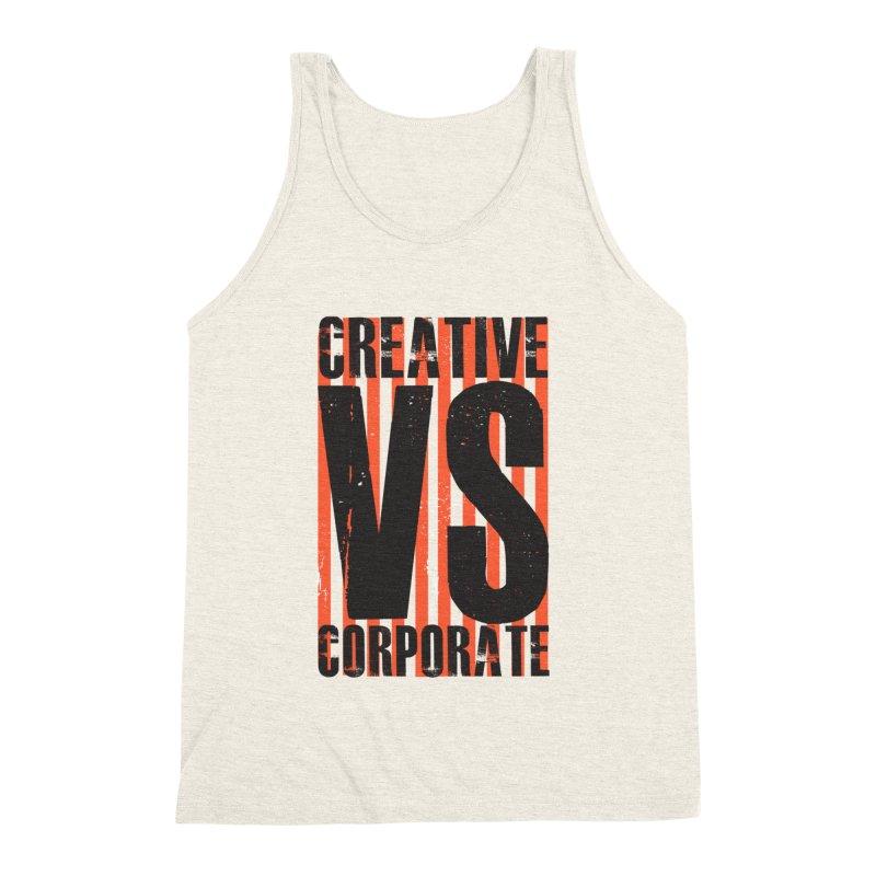 Creative Vs Corporate Men's Triblend Tank by Daniel Stevens's Artist Shop