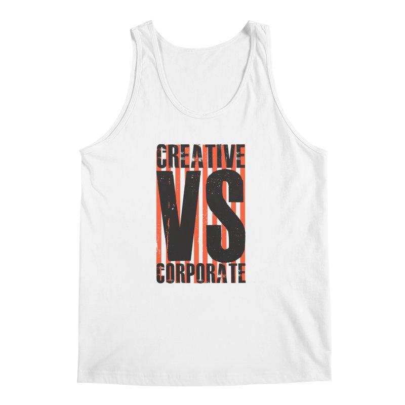 Creative Vs Corporate Men's Tank by Daniel Stevens's Artist Shop