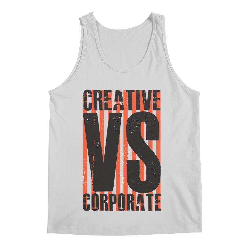 Creative Vs Corporate Men's Regular Tank by Daniel Stevens's Artist Shop