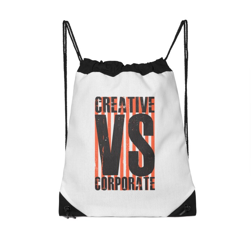 Creative Vs Corporate Accessories Drawstring Bag Bag by Daniel Stevens's Artist Shop