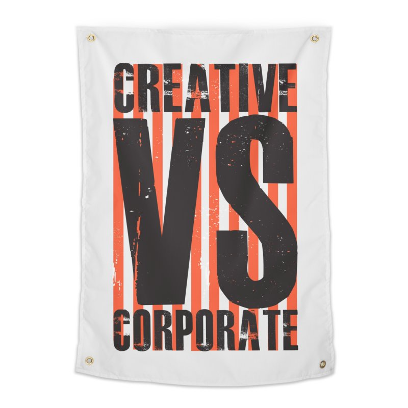 Creative Vs Corporate Home Tapestry by Daniel Stevens's Artist Shop
