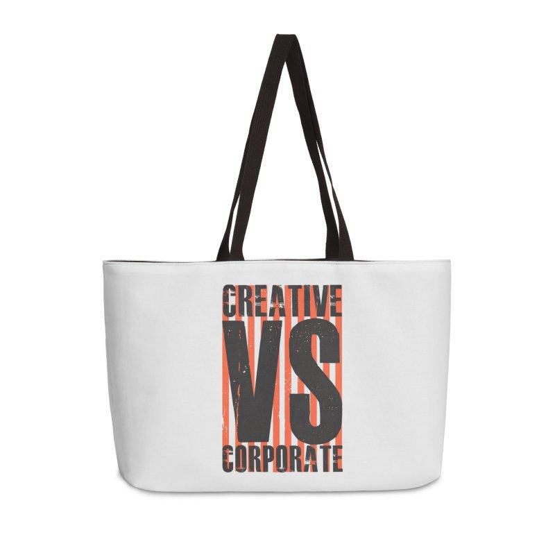 Creative Vs Corporate Accessories Weekender Bag Bag by Daniel Stevens's Artist Shop
