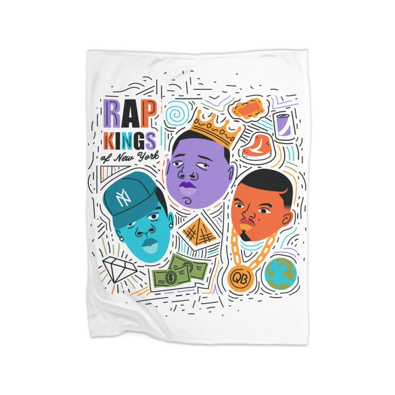 Rap Kings Home Fleece Blanket Blanket by Daniel Stevens's Artist Shop