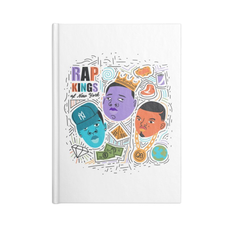 Rap Kings Accessories Lined Journal Notebook by Daniel Stevens's Artist Shop