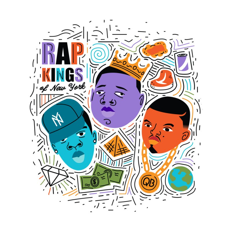 Rap Kings Women's Longsleeve T-Shirt by Daniel Stevens's Artist Shop