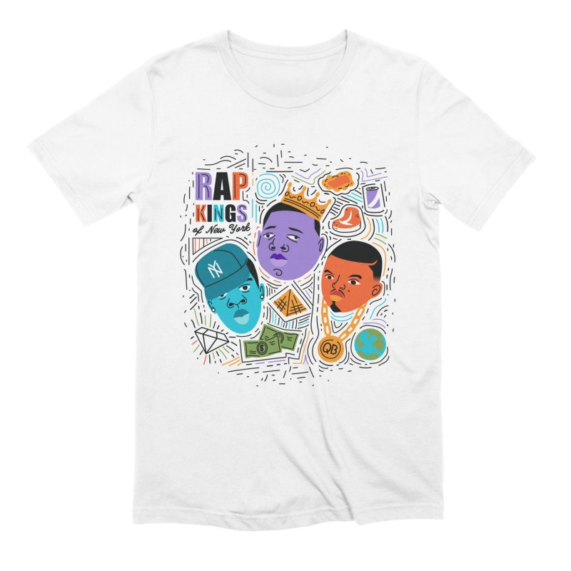 Rap Kings in Men's Extra Soft T-Shirt White by Daniel Stevens's Artist Shop
