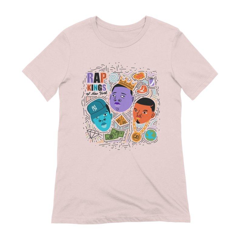 Rap Kings Women's Extra Soft T-Shirt by Daniel Stevens's Artist Shop