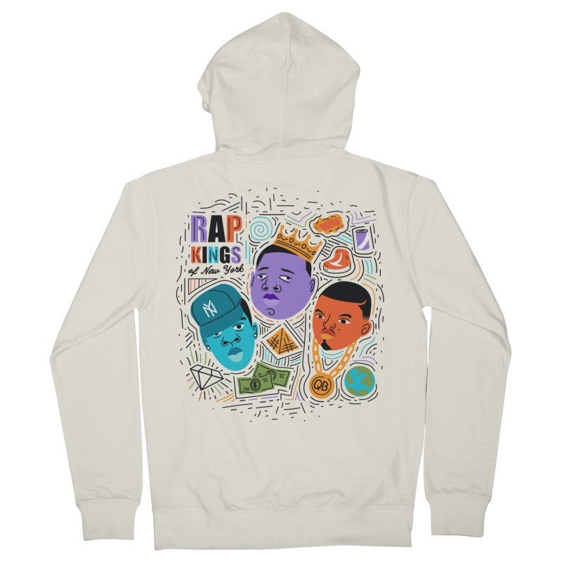 Rap Kings Men's French Terry Zip-Up Hoody by Daniel Stevens's Artist Shop