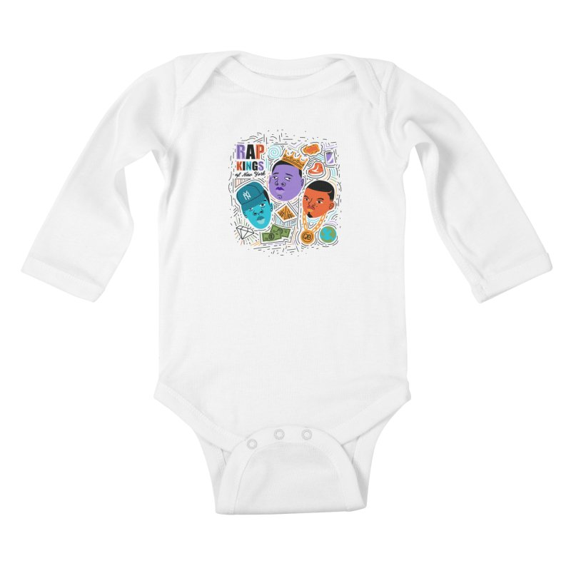 Rap Kings Kids Baby Longsleeve Bodysuit by Daniel Stevens's Artist Shop