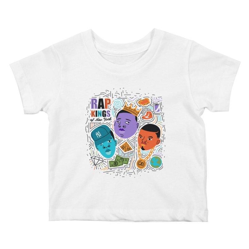 Rap Kings Kids Baby T-Shirt by Daniel Stevens's Artist Shop