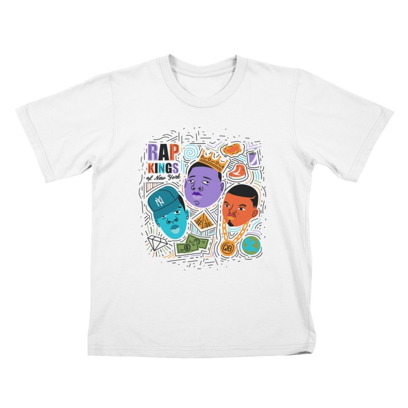 Rap Kings Kids T-Shirt by Daniel Stevens's Artist Shop