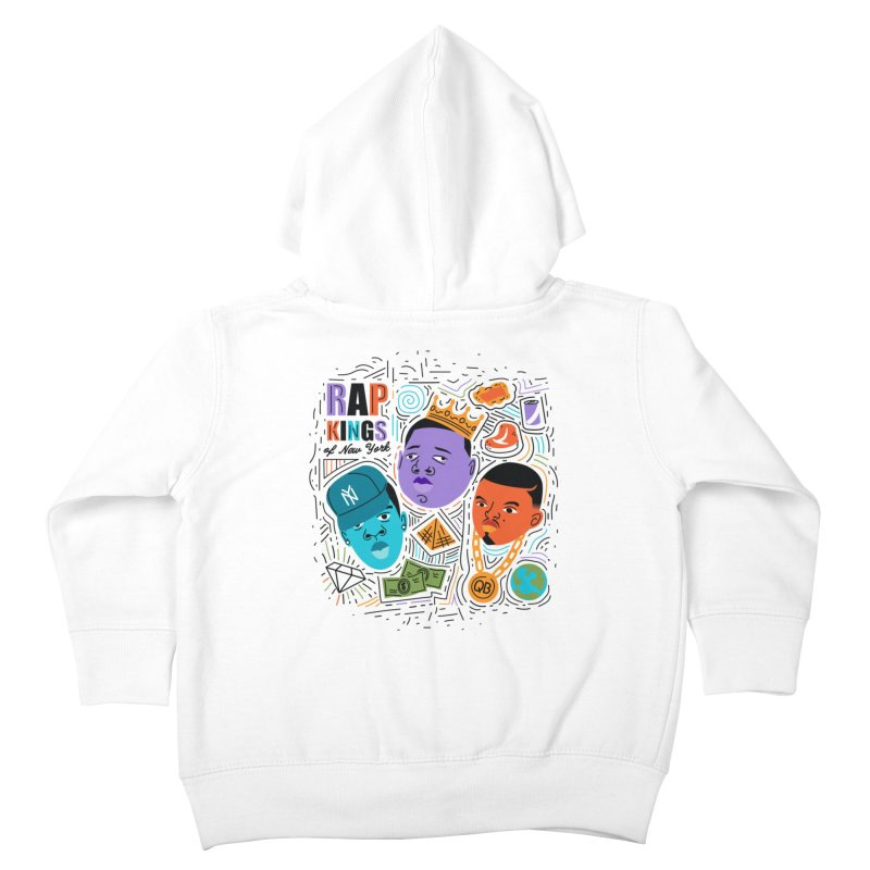 Rap Kings Kids Toddler Zip-Up Hoody by Daniel Stevens's Artist Shop