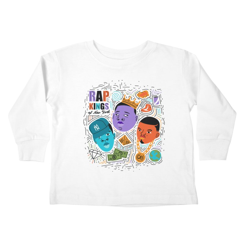 Rap Kings Kids Toddler Longsleeve T-Shirt by Daniel Stevens's Artist Shop