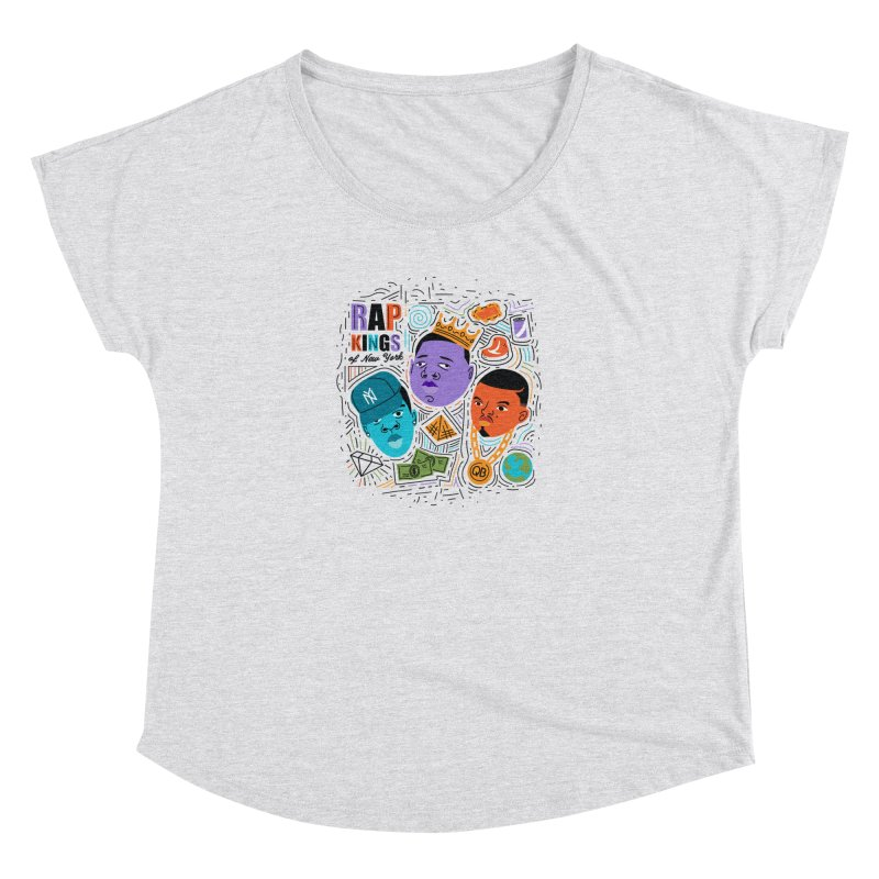 Rap Kings Women's Scoop Neck by Daniel Stevens's Artist Shop
