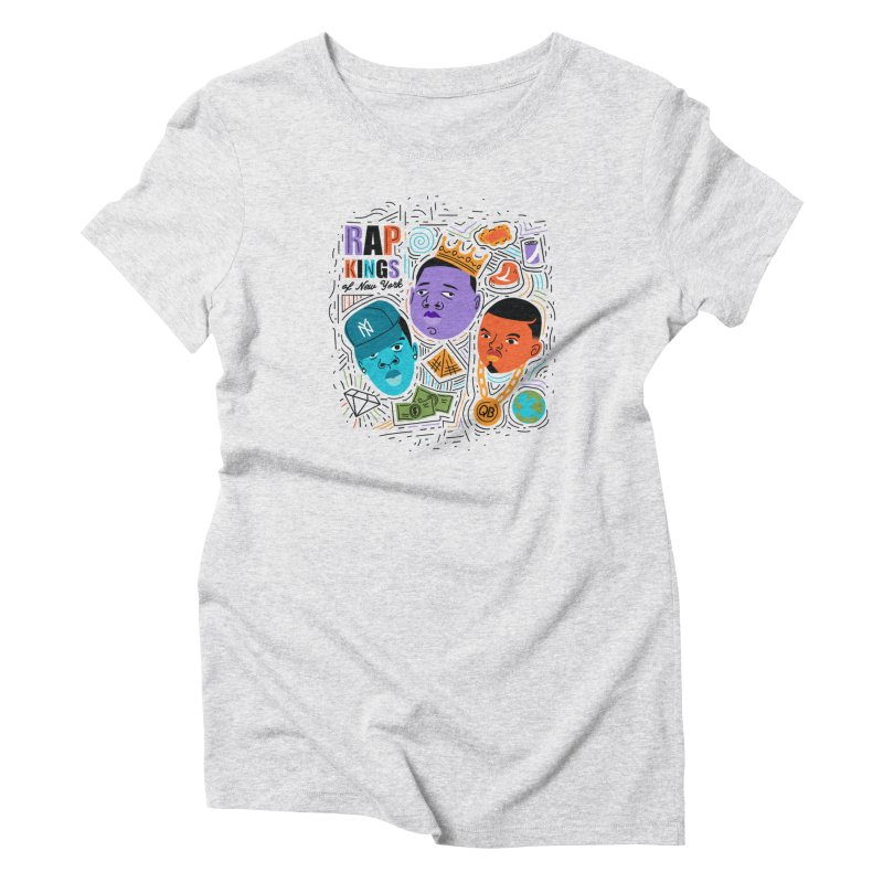 Rap Kings Women's T-Shirt by Daniel Stevens's Artist Shop