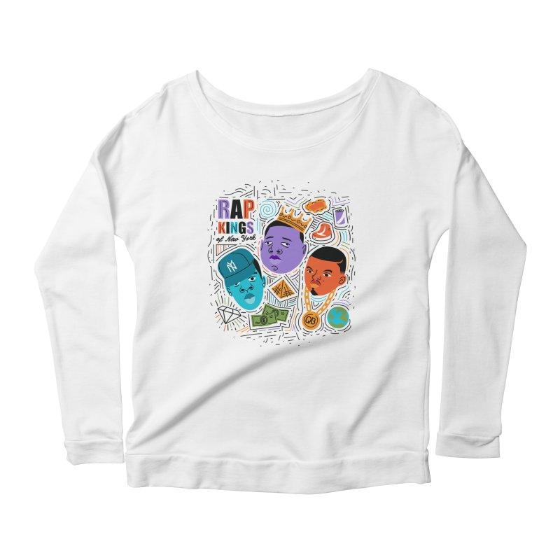 Rap Kings Women's Scoop Neck Longsleeve T-Shirt by Daniel Stevens's Artist Shop