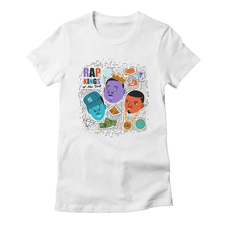 Rap Kings Women's Fitted T-Shirt by Daniel Stevens's Artist Shop