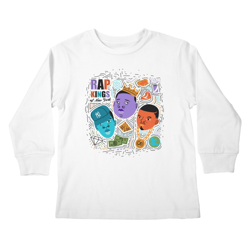 Rap Kings Kids Longsleeve T-Shirt by Daniel Stevens's Artist Shop