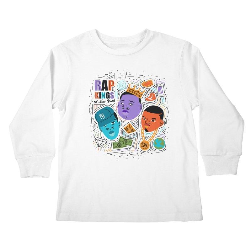 Rap Kings Kids Longsleeve T-Shirt by Daniel Stevens's Artist Shop
