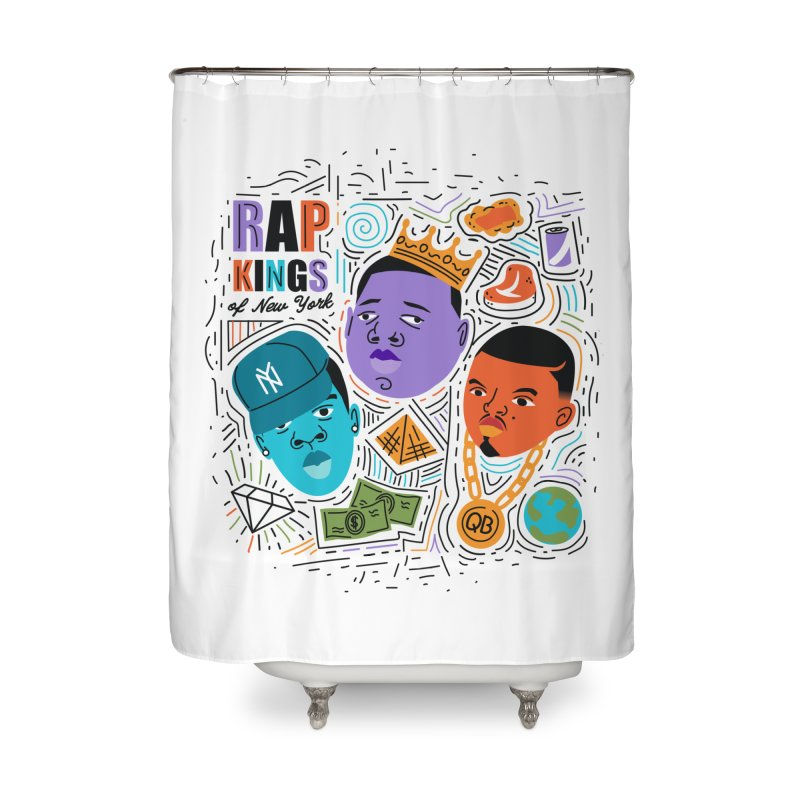 Rap Kings Home Shower Curtain by Daniel Stevens's Artist Shop