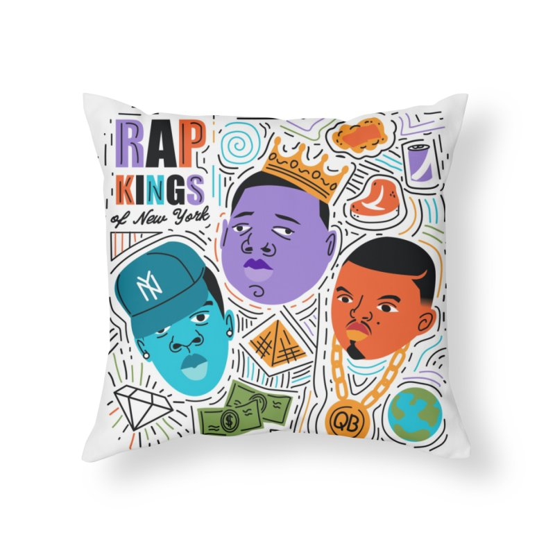 Rap Kings Home Throw Pillow by Daniel Stevens's Artist Shop