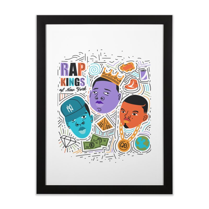 Rap Kings in Framed Fine Art Print Black by Daniel Stevens's Artist Shop