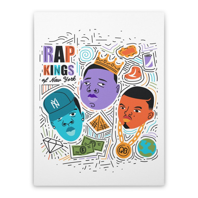 Rap Kings Home Stretched Canvas by Daniel Stevens's Artist Shop