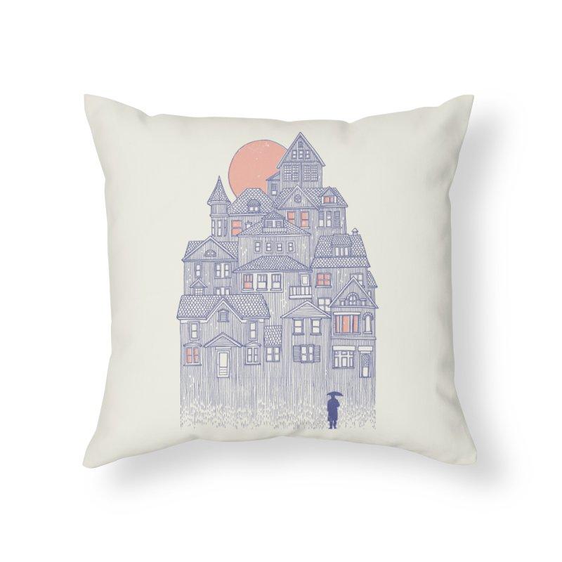 Rainy City Home Throw Pillow by Daniel Teixeira—Artworks