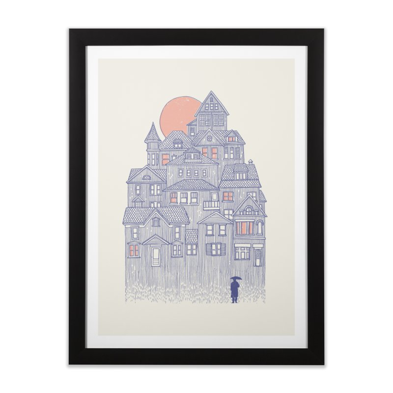 Rainy City Home Framed Fine Art Print by Daniel Teixeira—Artworks