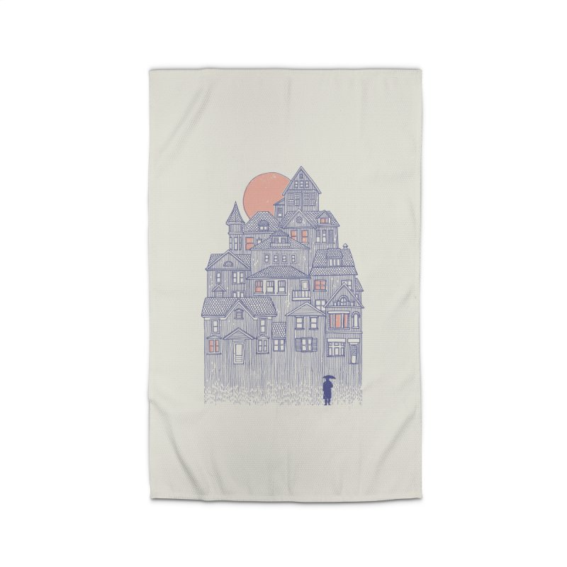 Rainy City Home Rug by Daniel Teixeira—Artworks
