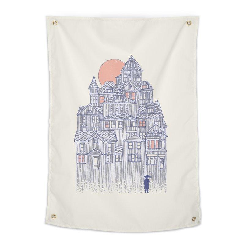 Rainy City Home Tapestry by Daniel Teixeira—Artworks