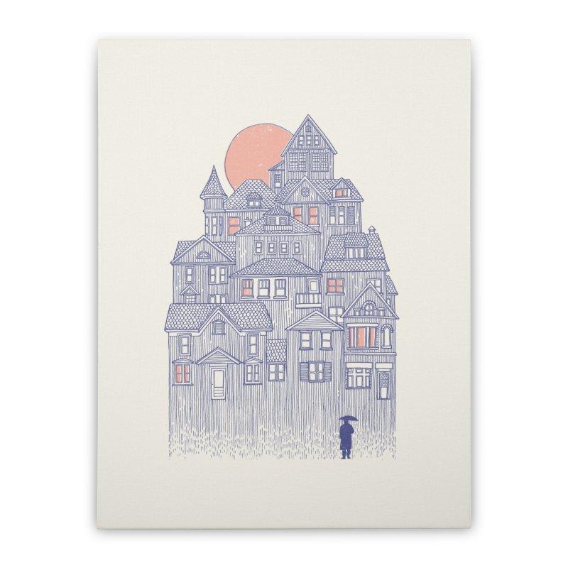 Rainy City Home Stretched Canvas by DanielTeixeira