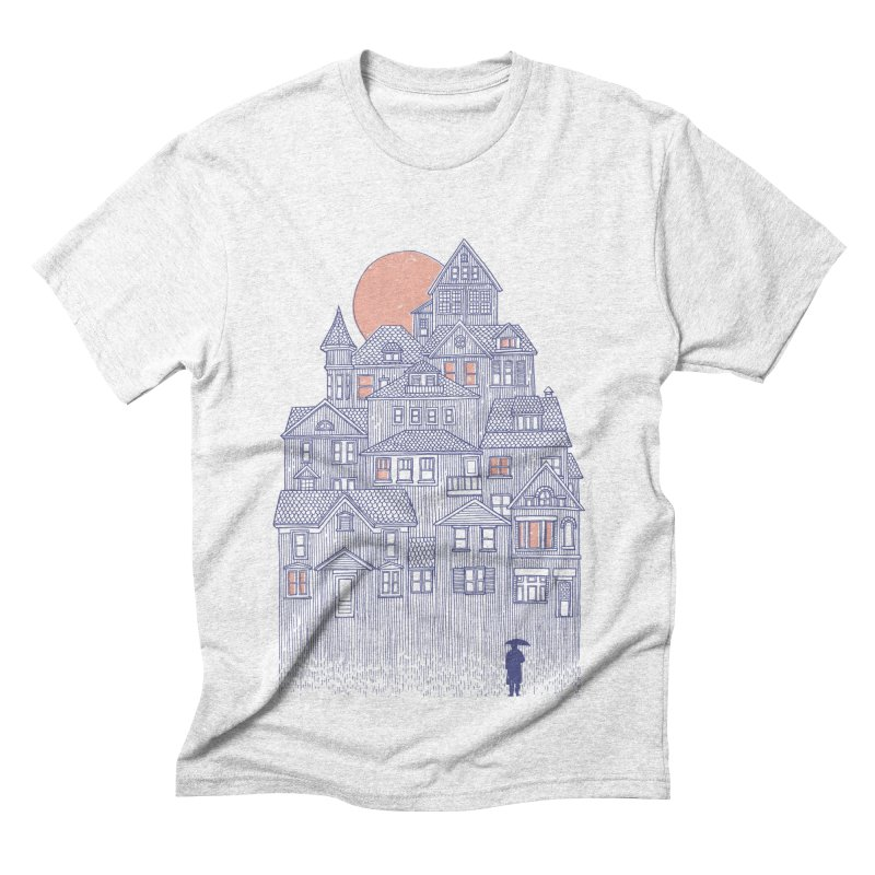 Rainy City Men's Triblend T-shirt by DanielTeixeira