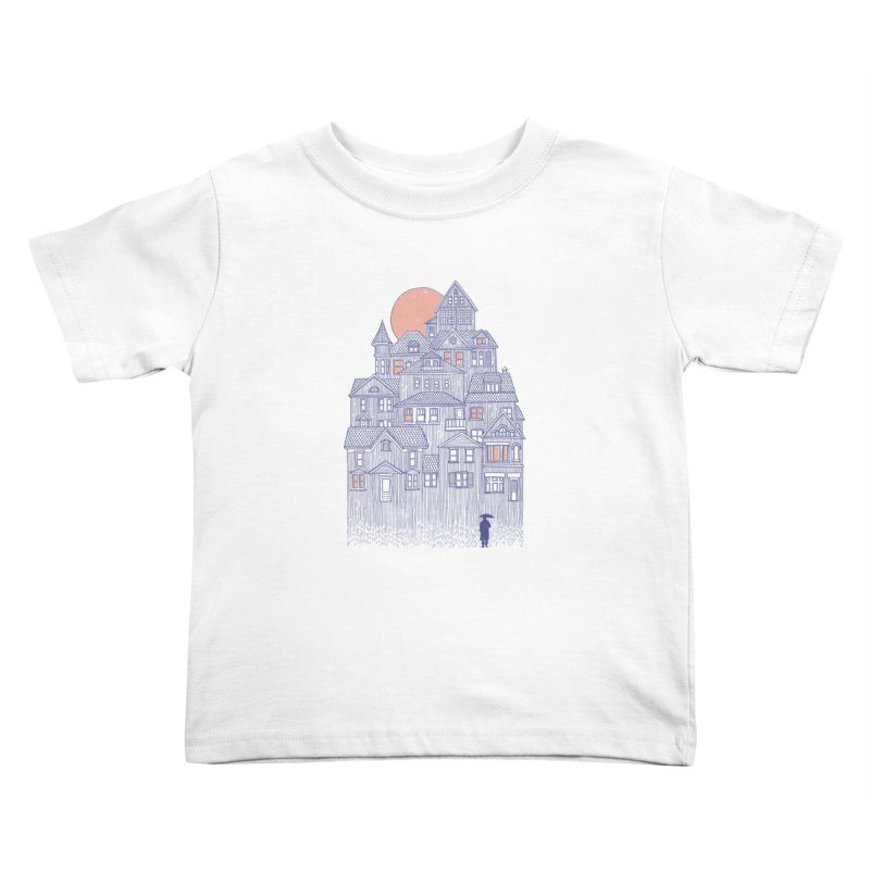 Rainy City Kids Toddler T-Shirt by Daniel Teixeira—Artworks