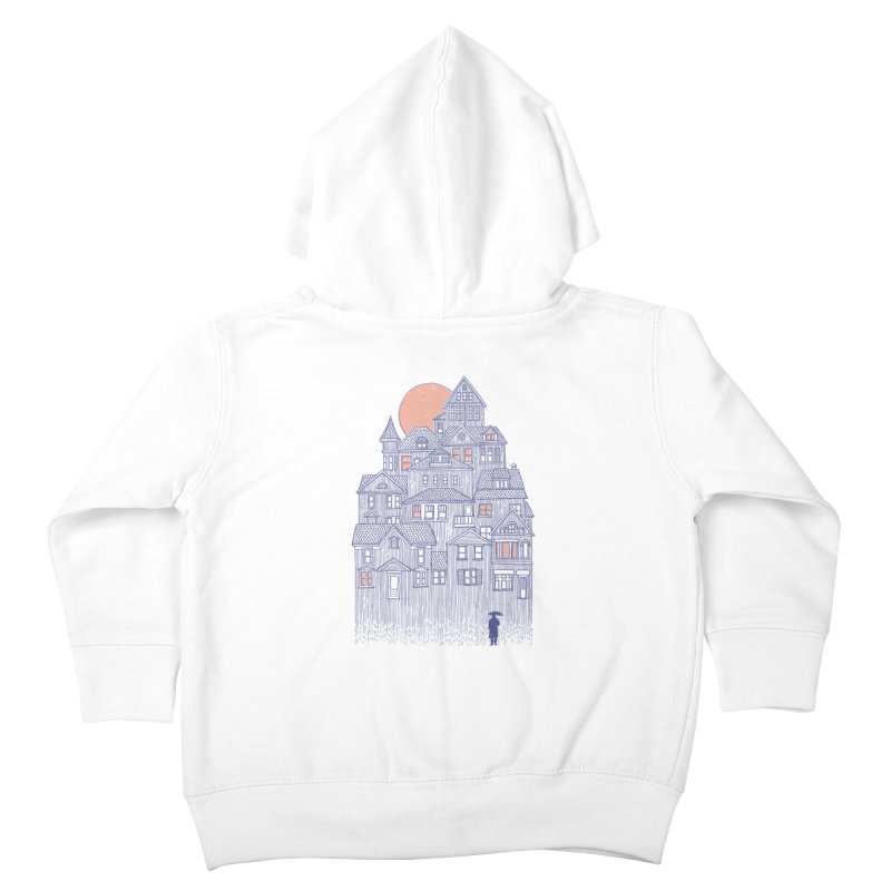 Rainy City Kids Toddler Zip-Up Hoody by Daniel Teixeira—Artworks