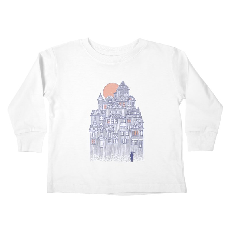 Rainy City Kids Toddler Longsleeve T-Shirt by Daniel Teixeira—Artworks