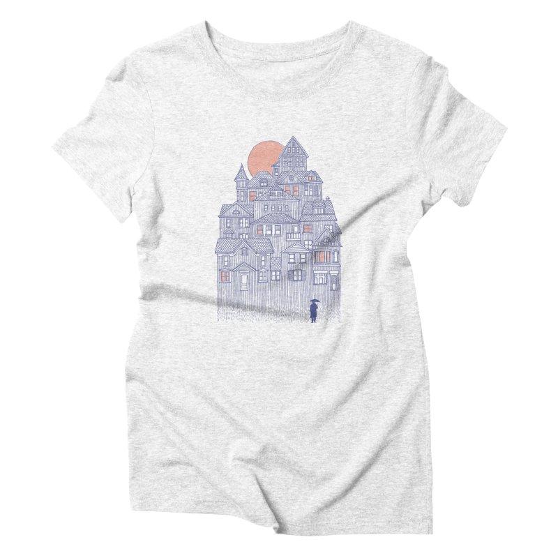 Rainy City Women's Triblend T-shirt by Daniel Teixeira—Artworks