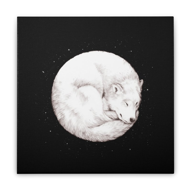 The Howl of the Moon Home Stretched Canvas by Daniel Teixeira—Artworks