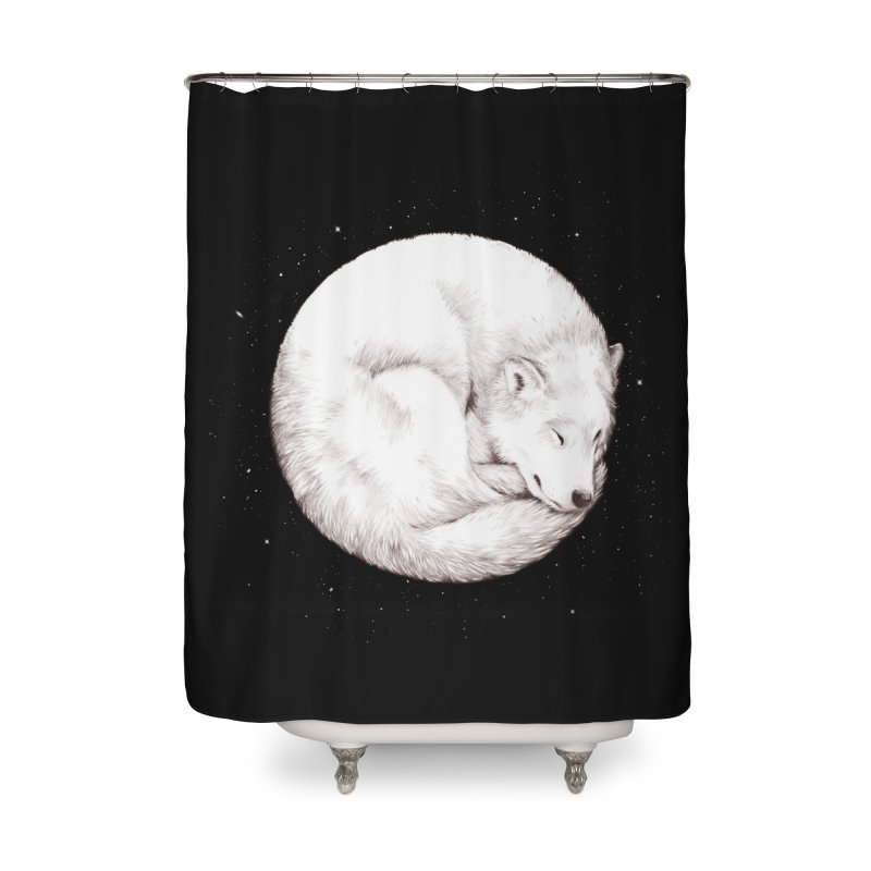 The Howl of the Moon Home Shower Curtain by Daniel Teixeira—Artworks