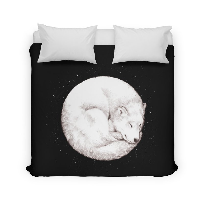 The Howl of the Moon Home Duvet by Daniel Teixeira—Artworks