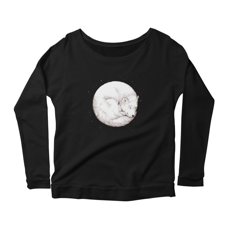 The Howl of the Moon Women's Longsleeve Scoopneck  by Daniel Teixeira—Artworks