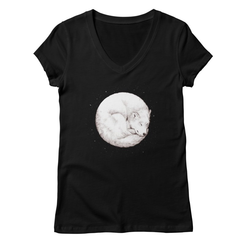 The Howl of the Moon Women's V-Neck by Daniel Teixeira—Artworks