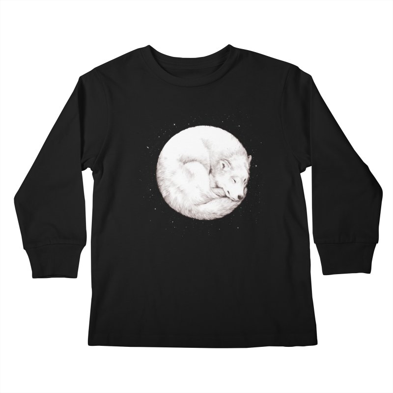The Howl of the Moon Kids Longsleeve T-Shirt by Daniel Teixeira—Artworks