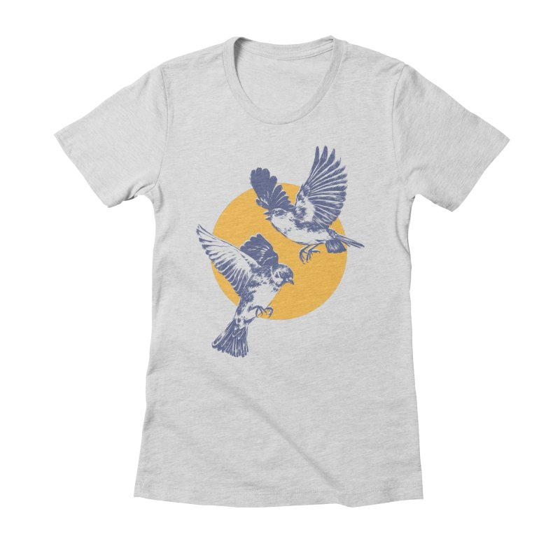 Sparrows Women's Fitted T-Shirt by Daniel Teixeira—Artworks