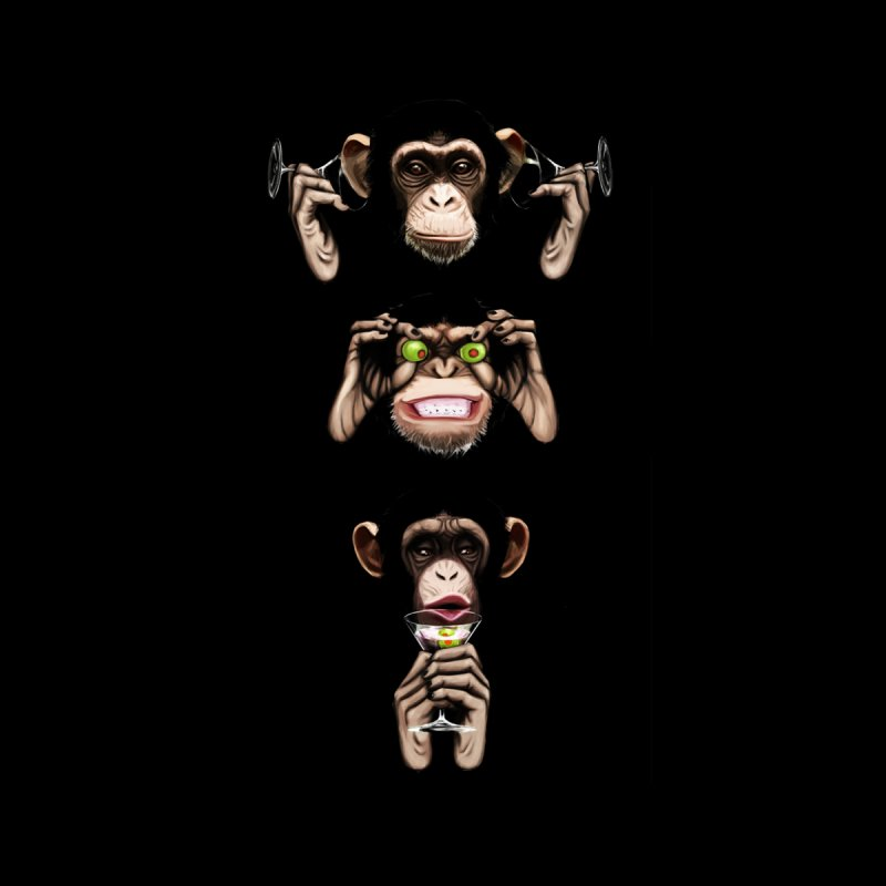 Martini Monkeys by danielwestman's Artist Shop