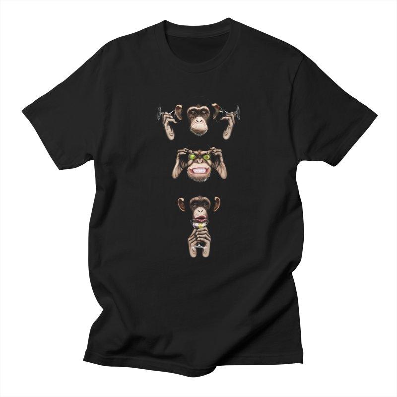Martini Monkeys Women's Unisex T-Shirt by danielwestman's Artist Shop
