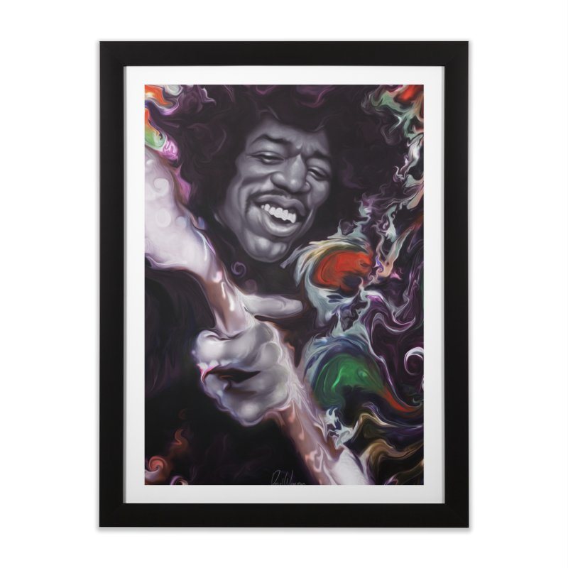 Jimi's not dead Home Framed Fine Art Print by danielwestman's Artist Shop